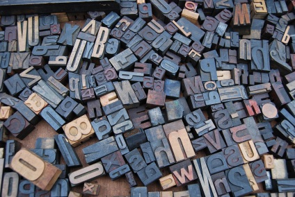 Letter blocks for a printing press